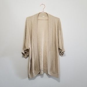 Gold glitter open front cardigan